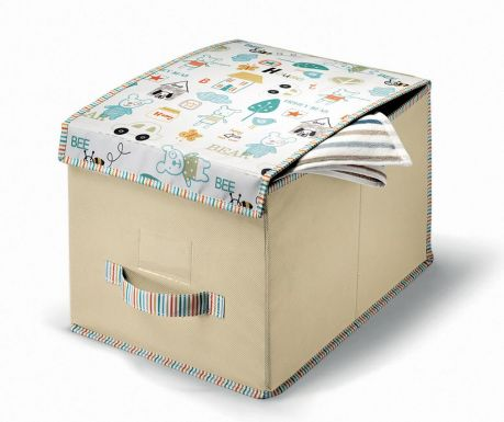 Úložná krabica s vekom Bear House More