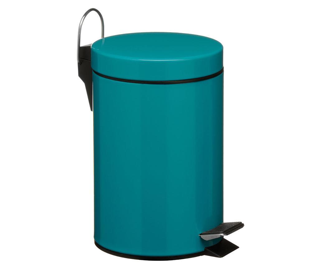 Cos de gunoi cu capac si pedala Simple Turquoise 3 L