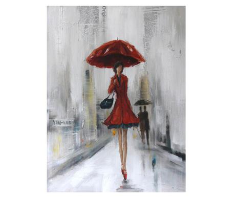 Tablou Red Lady 70x100 cm