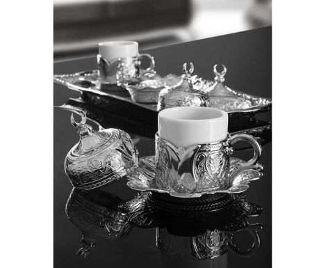 Сервиз за кафе 9 части Serim Silver