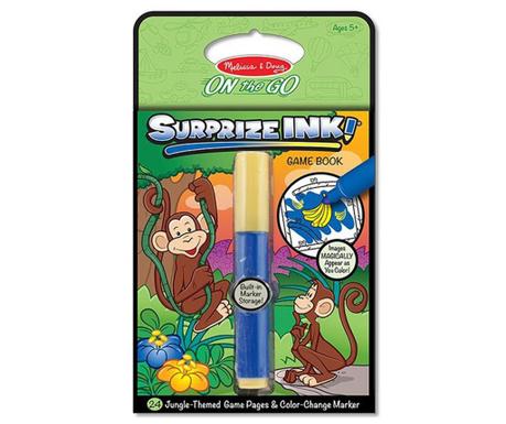Set caiet de colorat cu activitati si marker Jungle