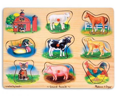 Игра тип пъзел 8 части Farm Animals