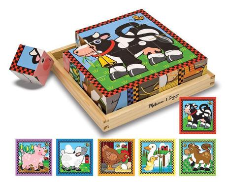 Puzzle din 16 cuburi Farm