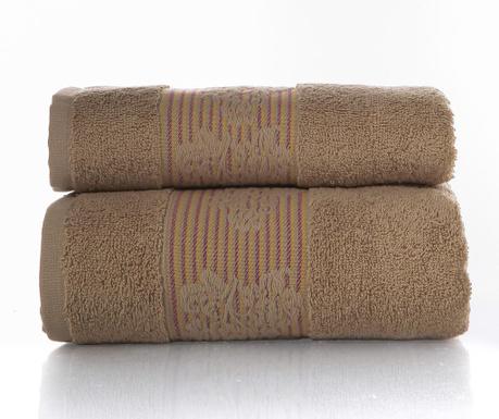 Zestaw 2 ręczników kąpielowych Soft Brown