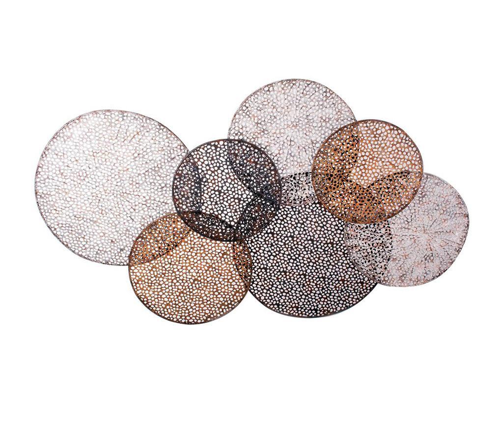 Laced circles vivre for Decoration murale en etain