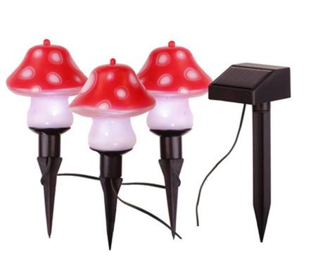 Zestaw 3 lamp solarnych Mushroom
