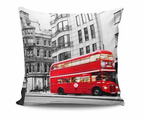Perna decorativa London Red Bus 45x45 cm