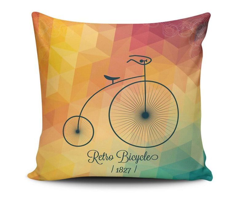 Perna decorativa Retro Bicycle 45x45 cm