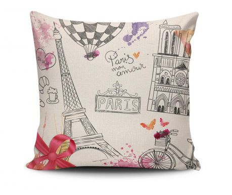 Paris Mon Amour Díszpárna 45x45 cm