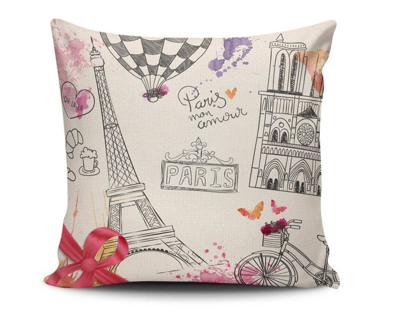 Perna decorativa Paris Mon Amour 45x45 cm