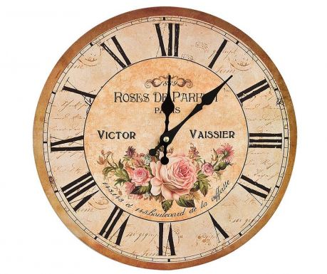 Zegar ścienny Roses de Paris