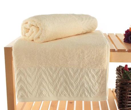 Persephone Cream 2 db Fürdőszobai törölköző 90x150 cm