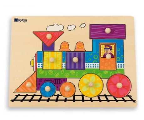 Gra typu puzzle 10 elementów Train