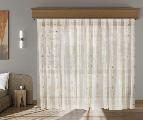 Curtain Janine Mustard Cream 200x260 cm