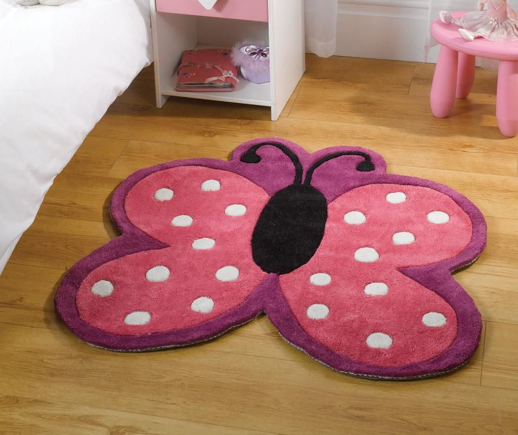 Covor Polka Butterfly 90x90 cm