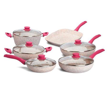 Комплект съдове за готвене 10 части Stonerose Fuchsia