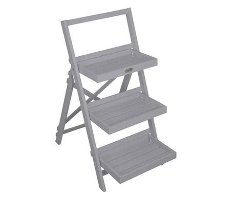 Сгъваема поставка за саксии Stairs Grey