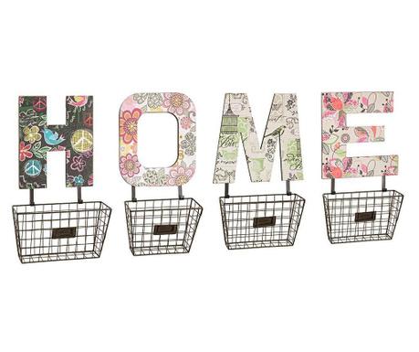 Set 4 stenskih košaric Home