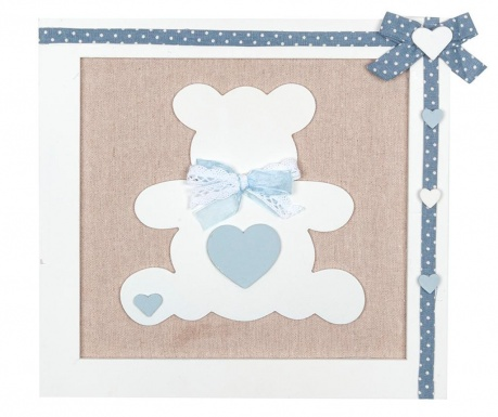 Decoratiune de perete Teddy Bear Blue