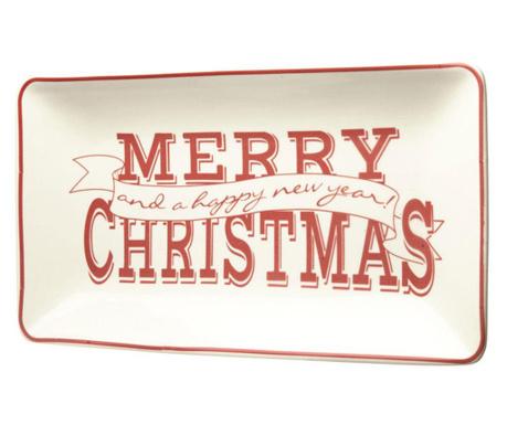 Merry Christmas Szervírozó tál