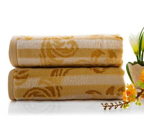 Ręcznik kąpielowy Elise Beige 50x90 cm