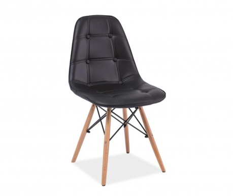 Krzesło Button Charles Black