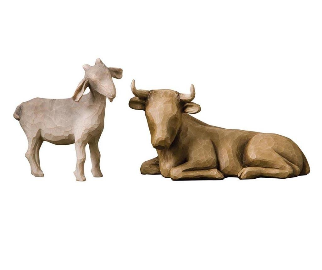 Set 2 decoratiuni Ox and Goat