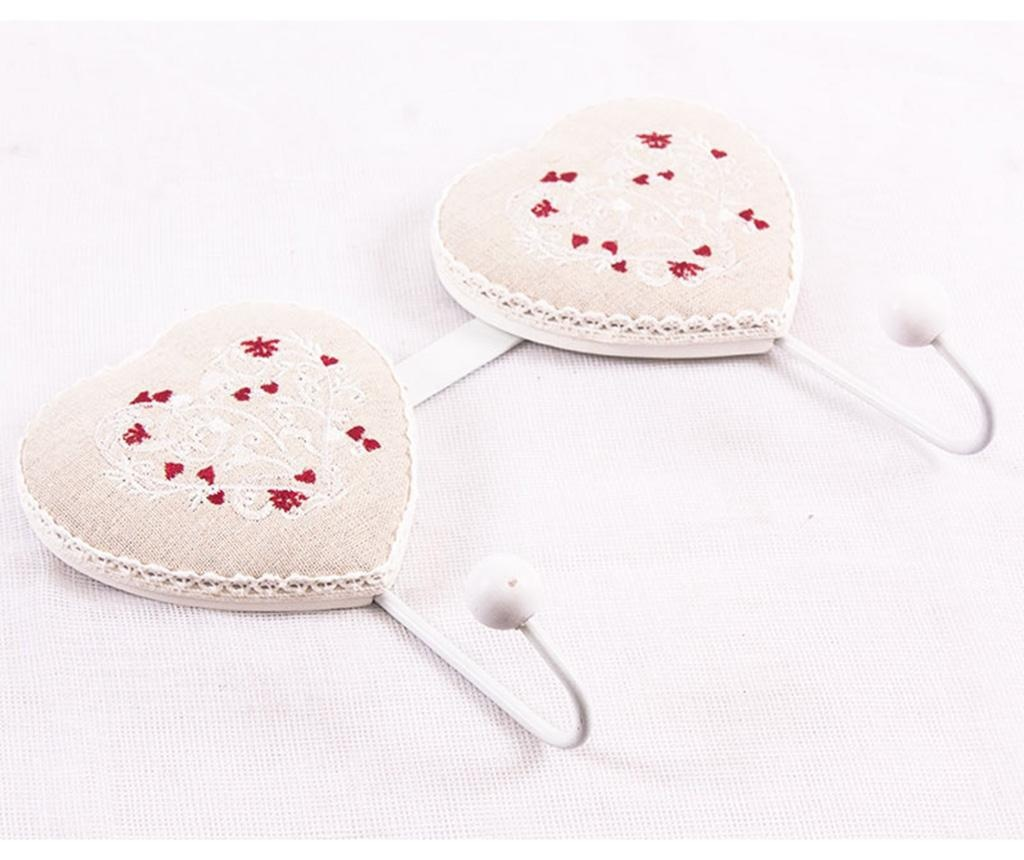 Cuier Double Heart Red