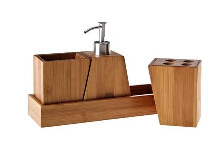 Комплект за баня 4 части Wood