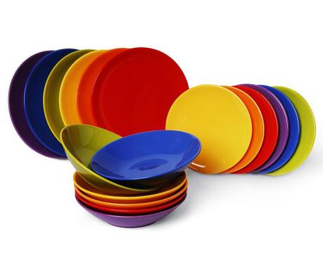 Jedálenská sada 18 ks Trendy Multicolor