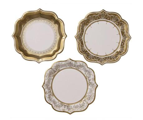 Комплект 12 чинии за еднократна употреба Gold Margin