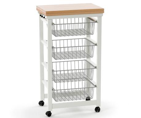 Разтегаема кухненска количка Gastoncino Lacquered Off  White