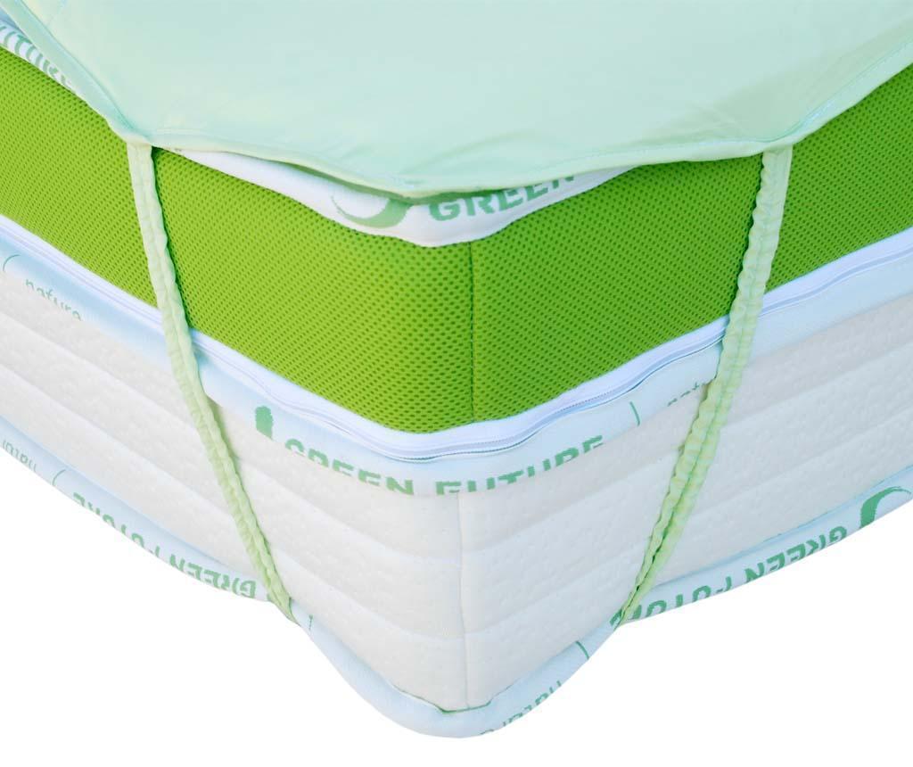 Protectie pentru saltea Nature Bamboo Green 90x200 cm