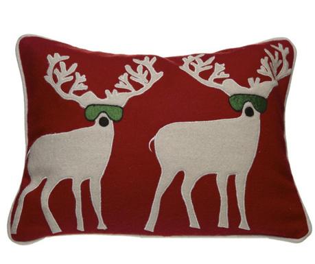 Perna decorativa Deer on Red 30x40 cm