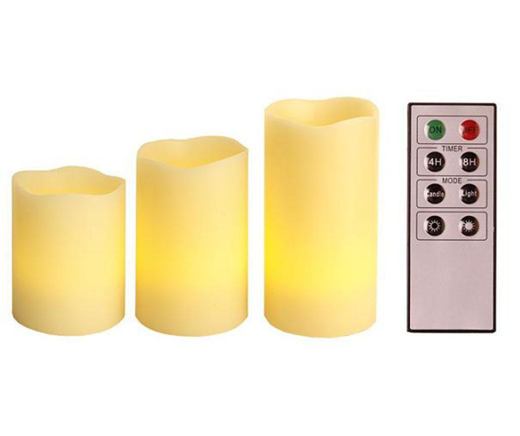 Set 3 svijeće sa LED-om Starlight
