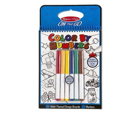 Set bilježnica za bojenje i 6 markera Blue