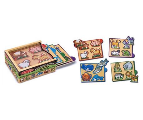 Igra tipa slagalice 5 dijelova Mini Animals