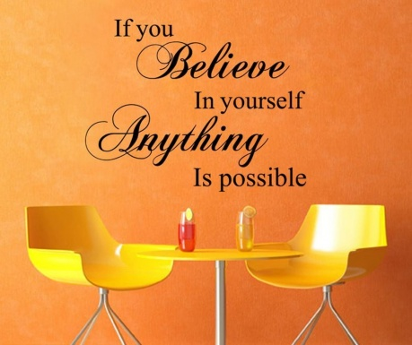 Naklejka Believe in yourself