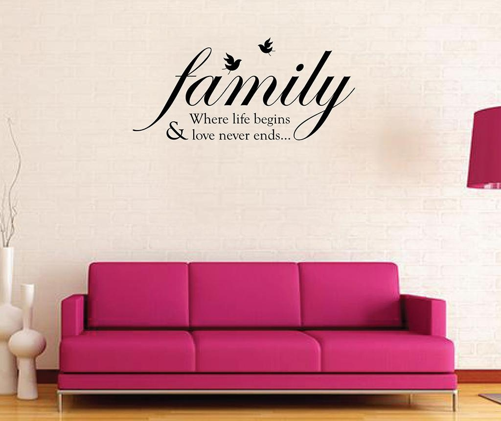 Sticker Family Birds Quote