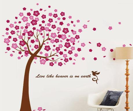 Sticker Pink Tree