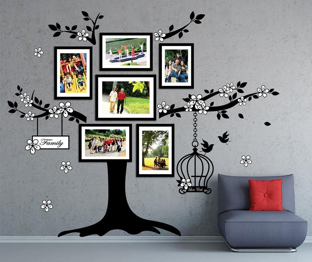 Nalepka s 6 foto okvirji Photo Frame Birdcage