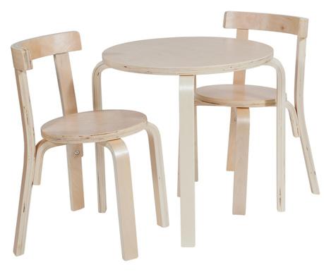 f86353dd476f Sada detský stolík s 2 stoličkami Natural Cream - Vivrehome.sk