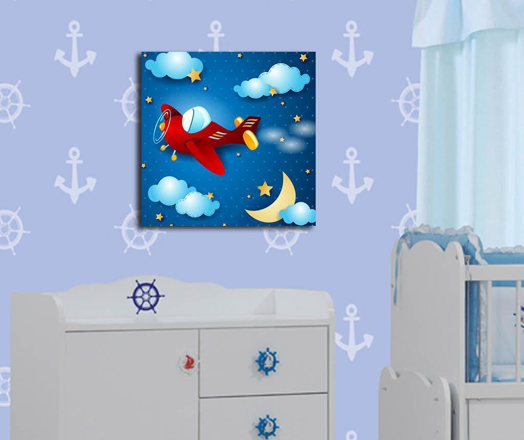 Πίνακας Night Plane 45x45 cm