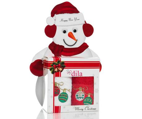 Set 2 prosoape de baie Christmas Balls Gift 30x50 cm