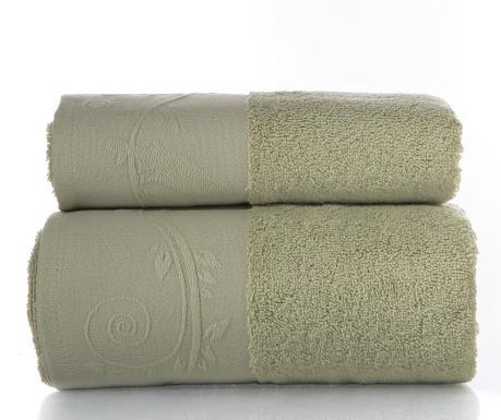 Zestaw 2 ręczniki kąpielowe Indigo Light Olive