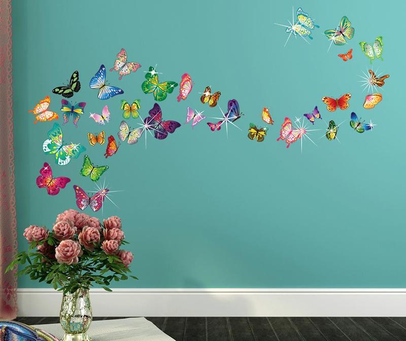 Nalepka Butterflies and Swarovski