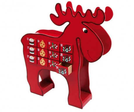 Decoratiune cu calendar Advent Elk Reindeer