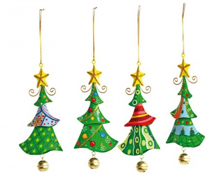 Set 4 viseća ukrasa Jingle Tree