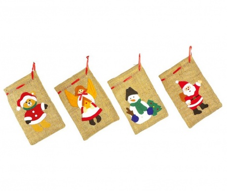 Set 4 saculeti decorativi Chistmas