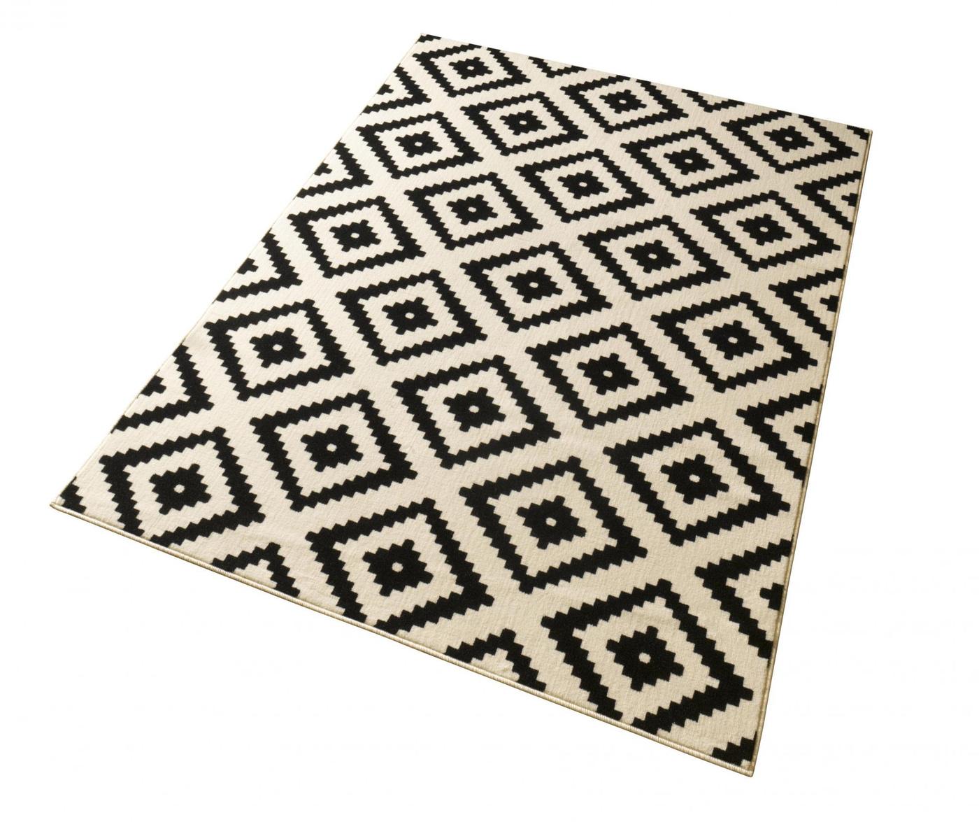 Tepih Diamond Black 160x230 cm